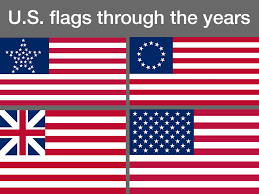 flags through the years